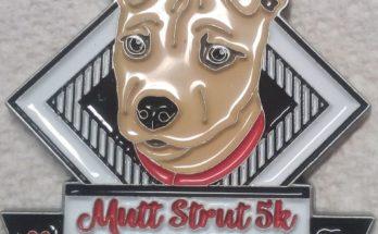 Mutt Strut 5k Medal