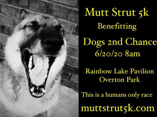 Save the Date Mutt Strut 5k 2020